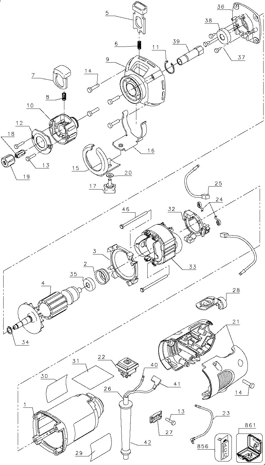 Dewalt guns parts, dw660 parts, drywall tools, drywall router ...